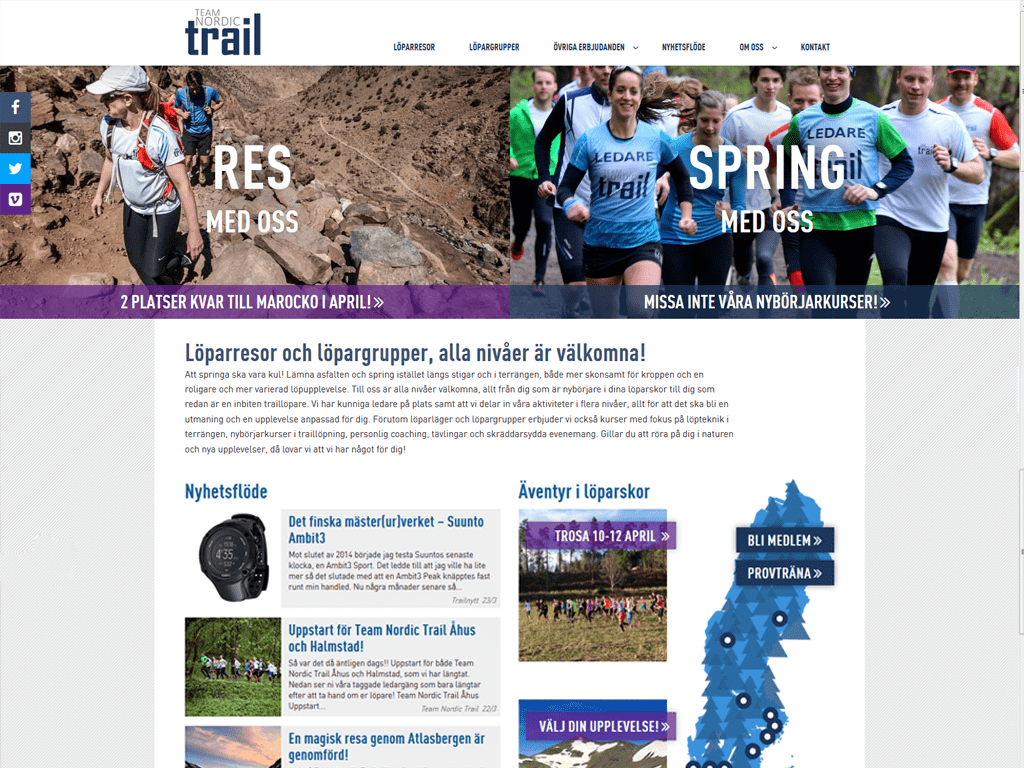 Desktop screenshot Team Nordic Trail